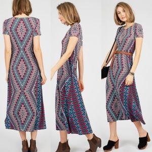 London Times Geo Midi Dress